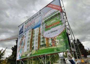 baner reklamowy inwestycji budowlanej