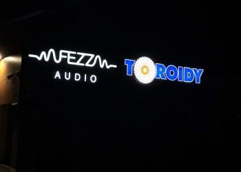 szyld Fezz Audio Toroidy nocą
