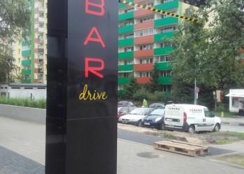 pionowy szyld PSS Społem bar drive
