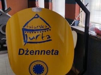 szyld Tatarska Jurta Dżenneta
