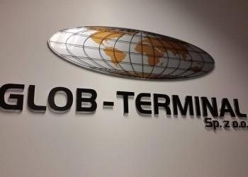 szyld Globo-Terminal naścianie 2